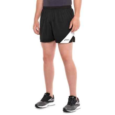 ASICS Break Through Running Shorts (For Men) in Black/White - Closeouts
