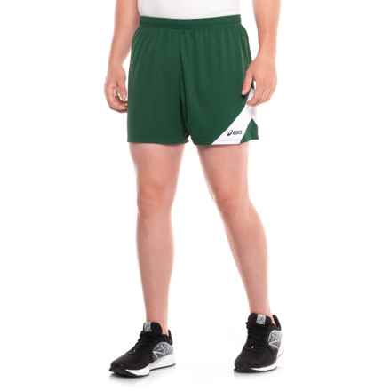 ASICS Break Through Running Shorts (For Men) in Forest/White - Closeouts