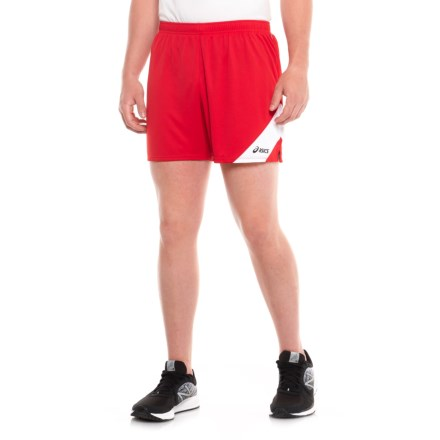 5e572c4ee25d ASICS Break Through Running Shorts (For Men) in Red White - Closeouts