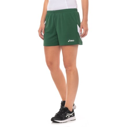 e116ff7cd ASICS Break Through Shorts (For Women) in Forest/White - Closeouts