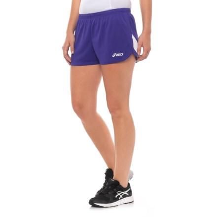 bdc4fc1ffa ASICS Break Through Split Running Shorts (For Women) in Purple/White -  Closeouts