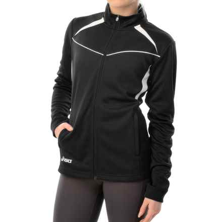 ASICS Cali Jacket - Full Zip (For Women) in Black/White - Closeouts
