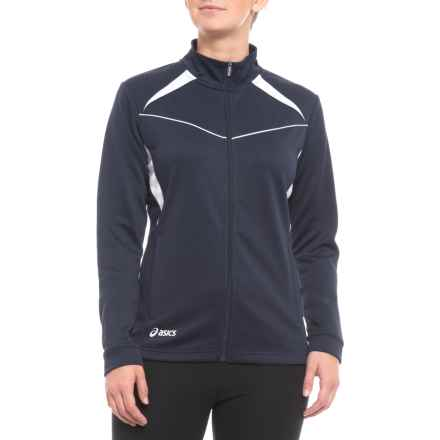 ASICS Cali Jacket - Full Zip (For Women) in Navy/White - Closeouts