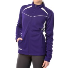 ASICS Cali Jacket - Full Zip (For Women) in Purple/White - Closeouts