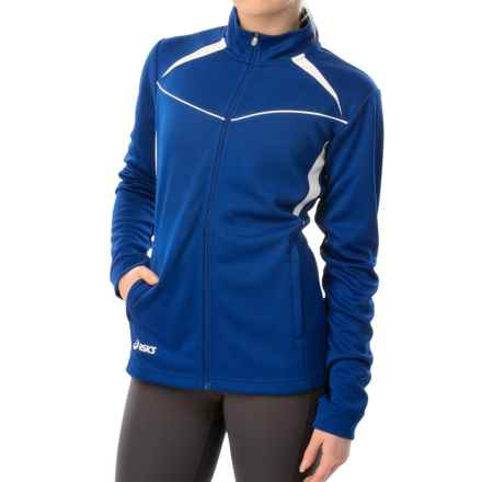 ASICS Cali Jacket - Full Zip (For Women) in Royal/White - Closeouts
