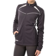 ASICS Cali Jacket - Full Zip (For Women) in Steel Grey/White - Closeouts