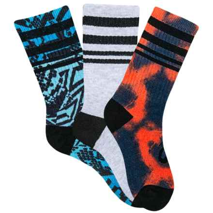 ASICS Contend Socks - Crew, 3-Pack (For Kids) in Black - Closeouts
