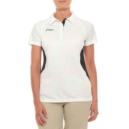 ASICS Corp Polo Shirt - Short Sleeve (For Women) in White - Closeouts