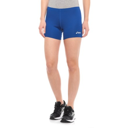 """6a16e20a4d4a ASICS Court Compression Shorts - 4"""" (For Women) in Royal - Closeouts"""