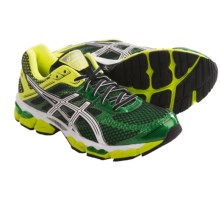 Asics Cumulus 15 Running Shoes (For Men) in Pine/White/Flash Yellow - Closeouts