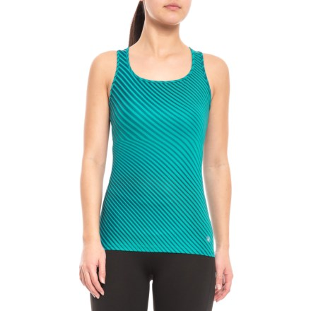e54d0e933 ASICS Fitted Training Tank Top (For Women) in Blue Steel - Closeouts
