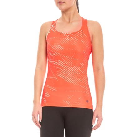 e3bde54d843 ASICS Fitted Training Tank Top (For Women) in Coralicious - Closeouts