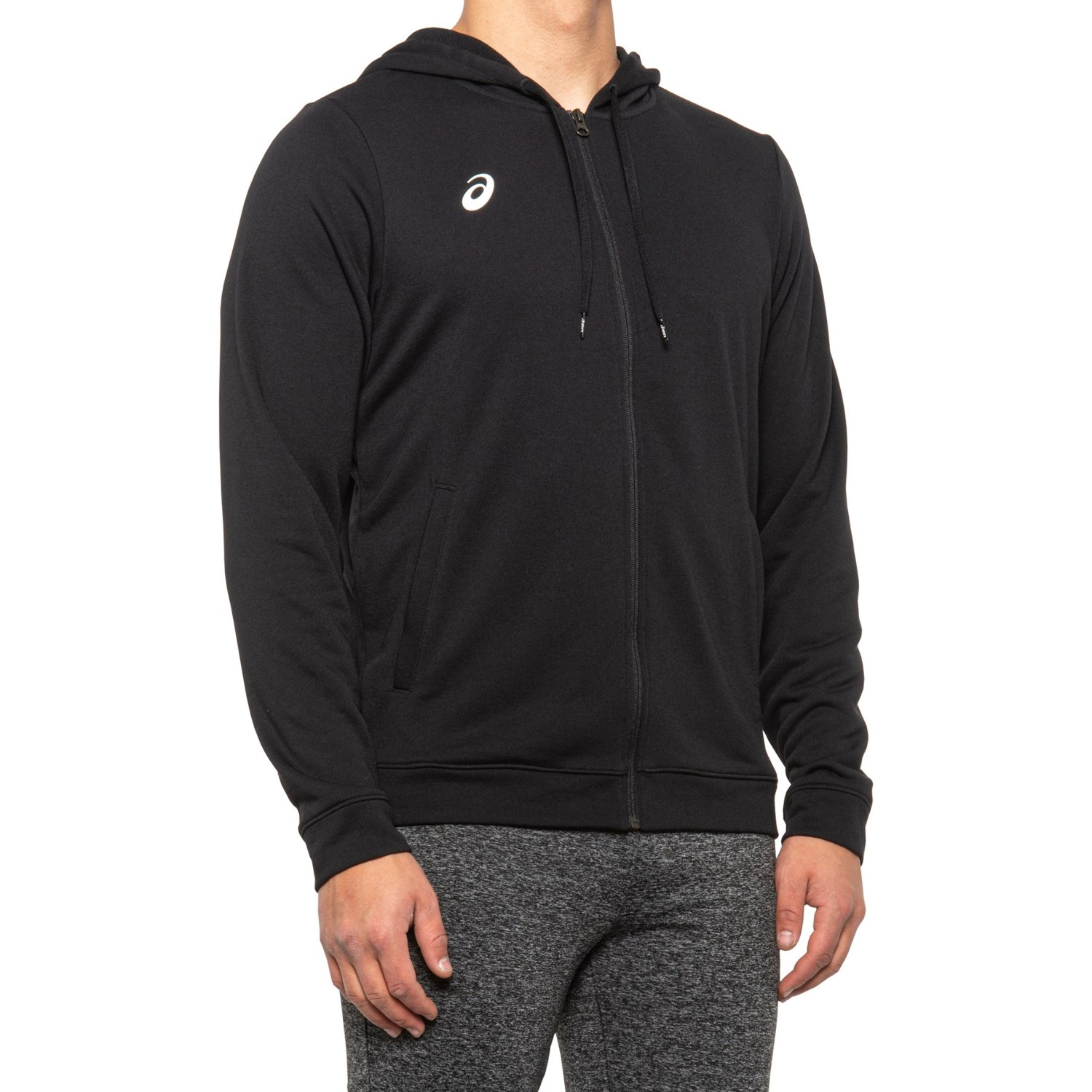 ASICS French Terry Full-Zip Hoodie (For Men) - Save 64%