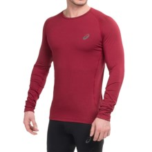 ASICS FujiTrail Base Layer Top - Long Sleeve (For Men) in Deep Ruby - Closeouts