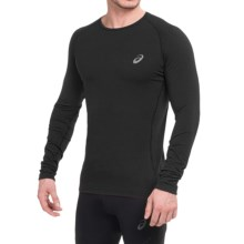 ASICS FujiTrail Base Layer Top - Long Sleeve (For Men) in Performance Black - Closeouts