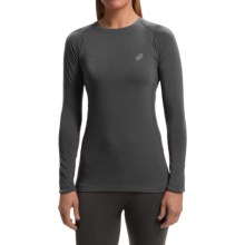 ASICS FujiTrail Base Layer Top - Long Sleeve (For Women) in Dark Grey - Closeouts