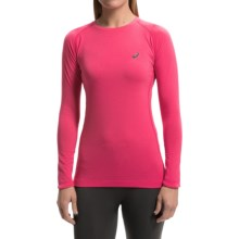 ASICS FujiTrail Base Layer Top - Long Sleeve (For Women) in Wild Raspberry - Closeouts