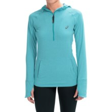 ASICS FujiTrail Hoodie - Zip Neck, Long Sleeve (For Women) in Turkish Sea Heather - Closeouts