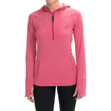 ASICS FujiTrail Hoodie - Zip Neck, Long Sleeve (For Women) in Wild Raspberry Heather - Closeouts