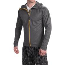ASICS FujiTrail Soft Shell Jacket - Full Zip, Hooded (For Men) in Dark Grey - Closeouts