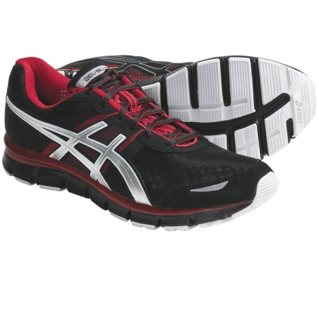 Asics GEL-Blur33 Running Shoes (For Men) in Black/Lightning/Flame