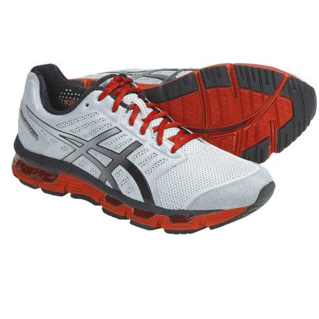Asics GEL-Cirrus33 Running Shoes (For Men) in Storm/Black/Electric Orange