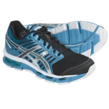 Asics GEL-Cirrus33 Running Shoes (For Women) in Black/Granite/Electric Turquoise - Closeouts