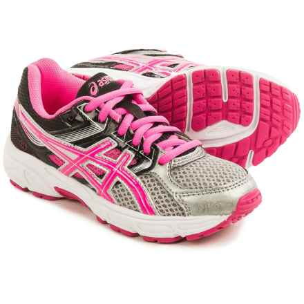ASICS GEL-Contend 3 GS Running Shoes (For Little and Big Kids) in Silver/Hot Pink/Black - Closeouts