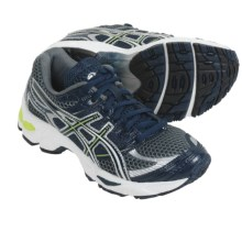 Asics GEL-Cumulus 13 Running Shoes (For Kids and Youth) in Navy/Charcoal/Lime - Closeouts