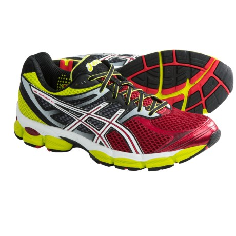 Asics GEL-Cumulus® 14 Running Shoes (For Men) in Red/White/Lime