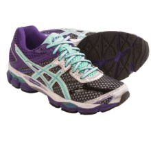 ASICS GEL-Cumulus 16 Running Shoes (For Women) in Onyx/Beach Glass/Purple - Closeouts