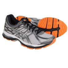 ASICS GEL-Cumulus 17 Running Shoes (For Men) in White/Silver/Hot Orange - Closeouts