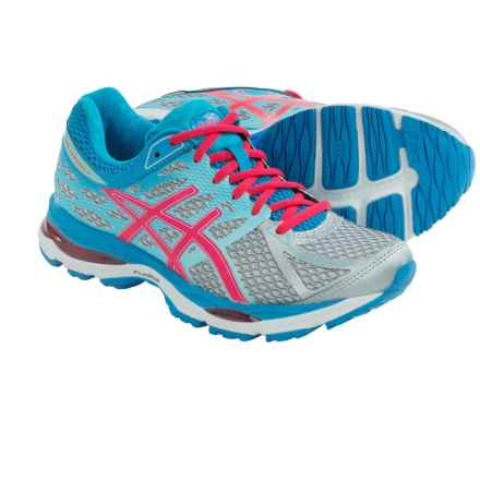 ASICS GEL-Cumulus 17 Running Shoes (For Women) in Silver/Hot Pink/Turquoise - Closeouts