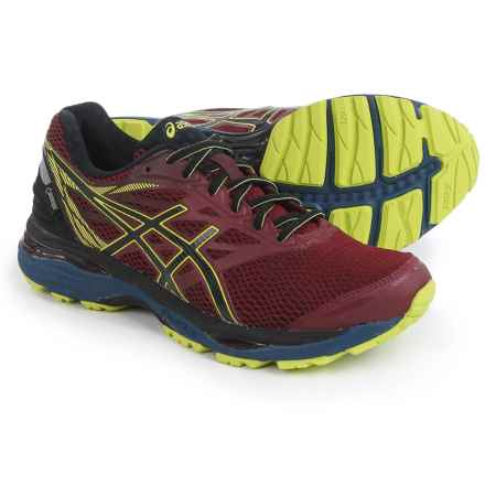 ASICS GEL-Cumulus 18 Gore-Tex® Running Shoes - Waterproof (For Men) in Pomegranate/Black/Sulphur Spring - Closeouts