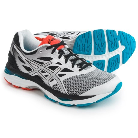 ASICS GEL-Cumulus 18 Running Shoes (For Men) in White/Silver/Black