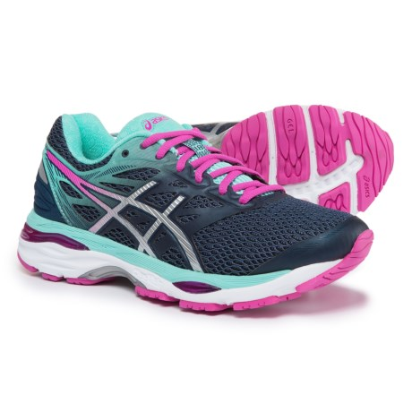 ASICS GEL-Cumulus 18 Running Shoes (For Women) in Indigo Blue/Silver/Pink Glow