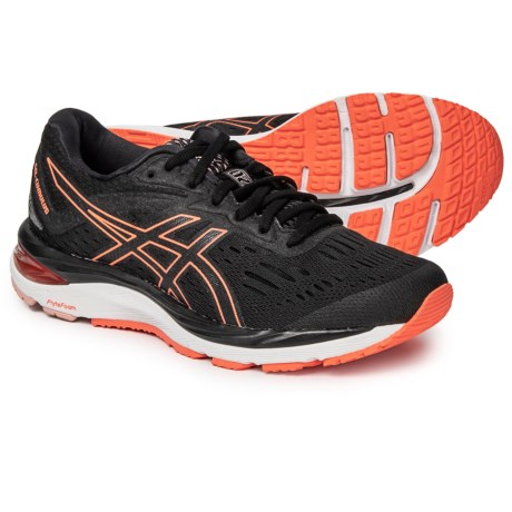 5f7da62bd720 ASICS GEL-Cumulus 20 Running Shoes (For Women) in Black/Flash Coral