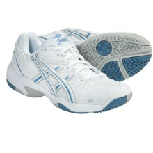Asics GEL-Dedicate 2 Tennis Shoes (For Women) in White/Platinum/Blue - Closeouts