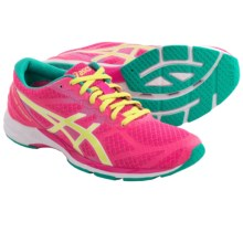 ASICS GEL-DS Racer 10 Running Shoes (For Women) in Hot Pink/Sunny Lime/Emerald - Closeouts
