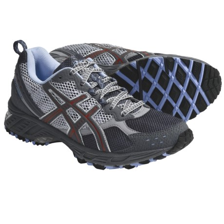 Asics GEL-Enduro 7 Trail Running Shoes (For Women) in Titanium/Carbon/Flame