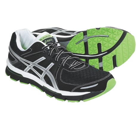 Asics GEL-Excel33 Running Shoes (For Men) in Black/Lightning/Sun
