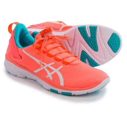 ASICS GEL-Fit Sana 2 Cross-Training Shoes (For Women) in Flash Coral/White/Blue - Closeouts