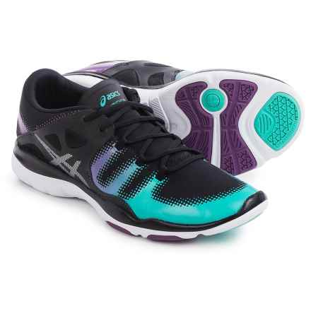 ASICS GEL-Fit Vida Cross-Training Shoes (For Women) in Black/Silver/Aqua Mint - Closeouts