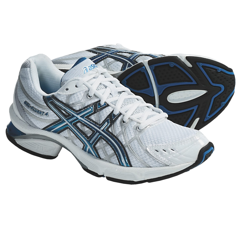 Asics GEL Fluent 4 Running Shoes (For Women) in White/Malibu/Silver