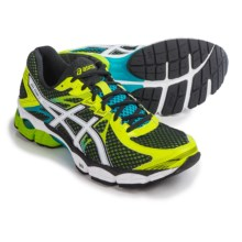 ASICS GEL-Flux 2 Running Shoes (For Men) in Black/White/Flash Yellow - Closeouts