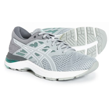 ASICS GEL-Flux 5 Running Shoes (For Women) in Mid Grey White 410879add