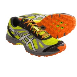 Asics Gel-FujiRacer Trail Running Shoes (For Men) in Lime/White/Flash Orange