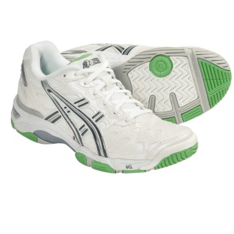 Asics GEL-Game 3 Tennis Shoes (For Women) in White/Storm/Irish Green