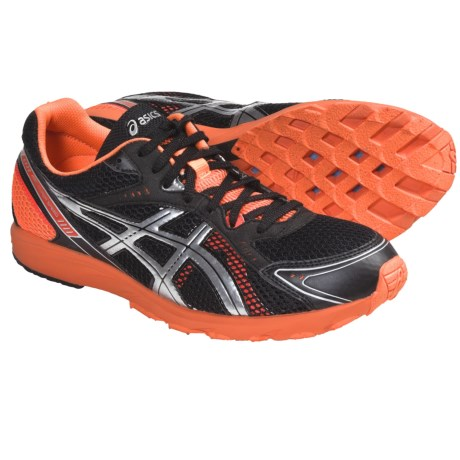 Asics GEL-Hyper Speed 5 Running Shoes (For Men) in Black/Lightning/Flash Orange