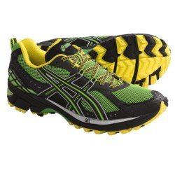 Asics GEL-Kahana 6 Trail Running Shoes (For Men) in Electric Green/Onyx/Sun